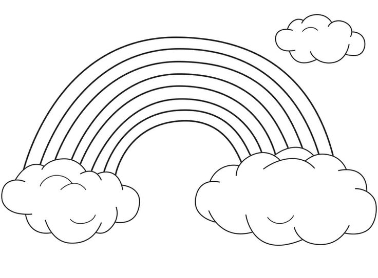 736x543 24 Images Of Rainbow Drawing Template