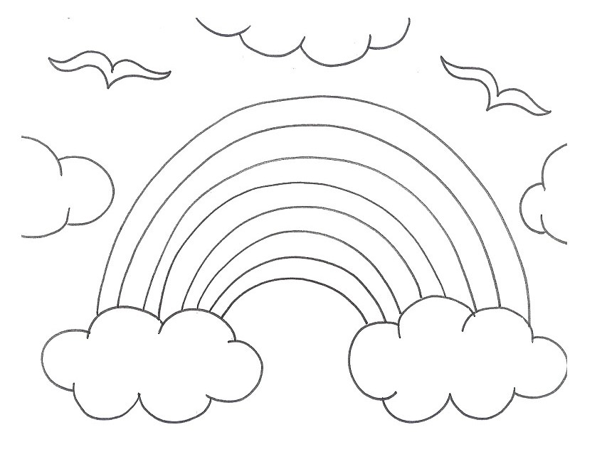 839x653 Rainbow Coloring Page The Sun Flower Pages