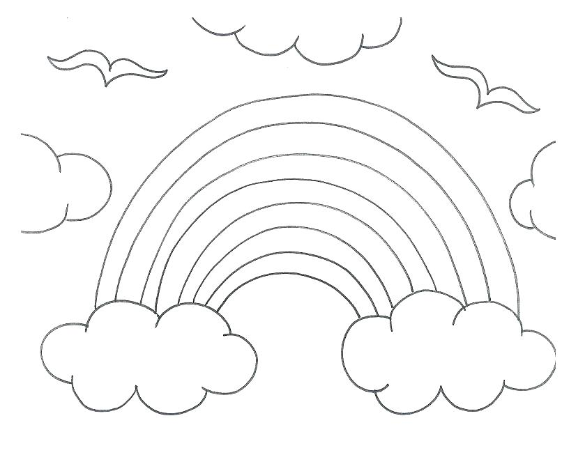 839x653 rainbow coloring template rainbow and sun coloring page rainbow
