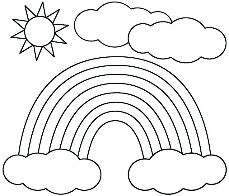 Rainbow Drawing Template At GetdrawingsCom  Free For Personal Use