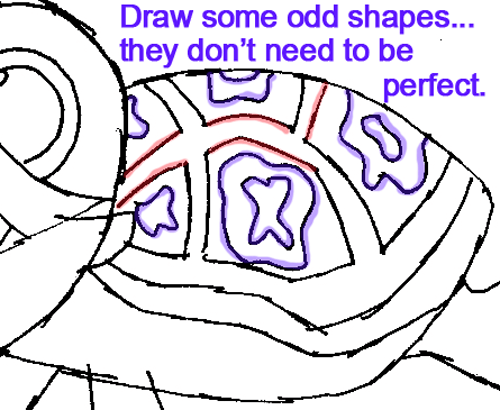 500x410 How To Draw Squirt The Turtle From Finding Nemo With Easy Step By