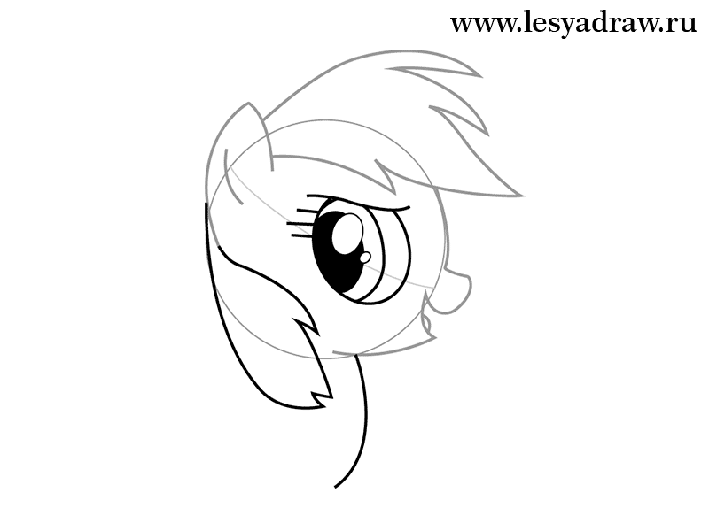 800x600 How To Draw A Pony The Rainbow With A Pencil Step By Step