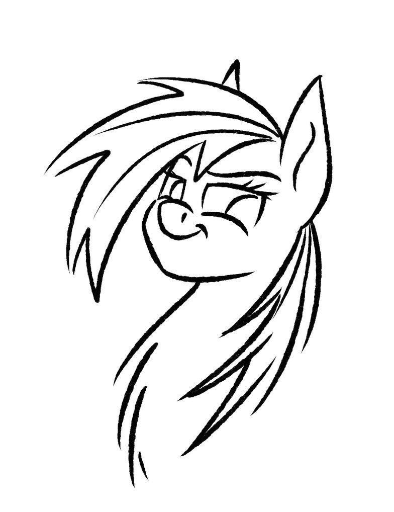 784x1018 Quick Sketch Rainbow Dash By Akweer