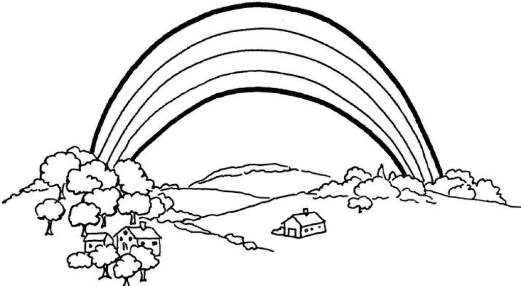 1024x562 Cool Coloring Page Rainbow 43 In Line Drawings With Coloring Page