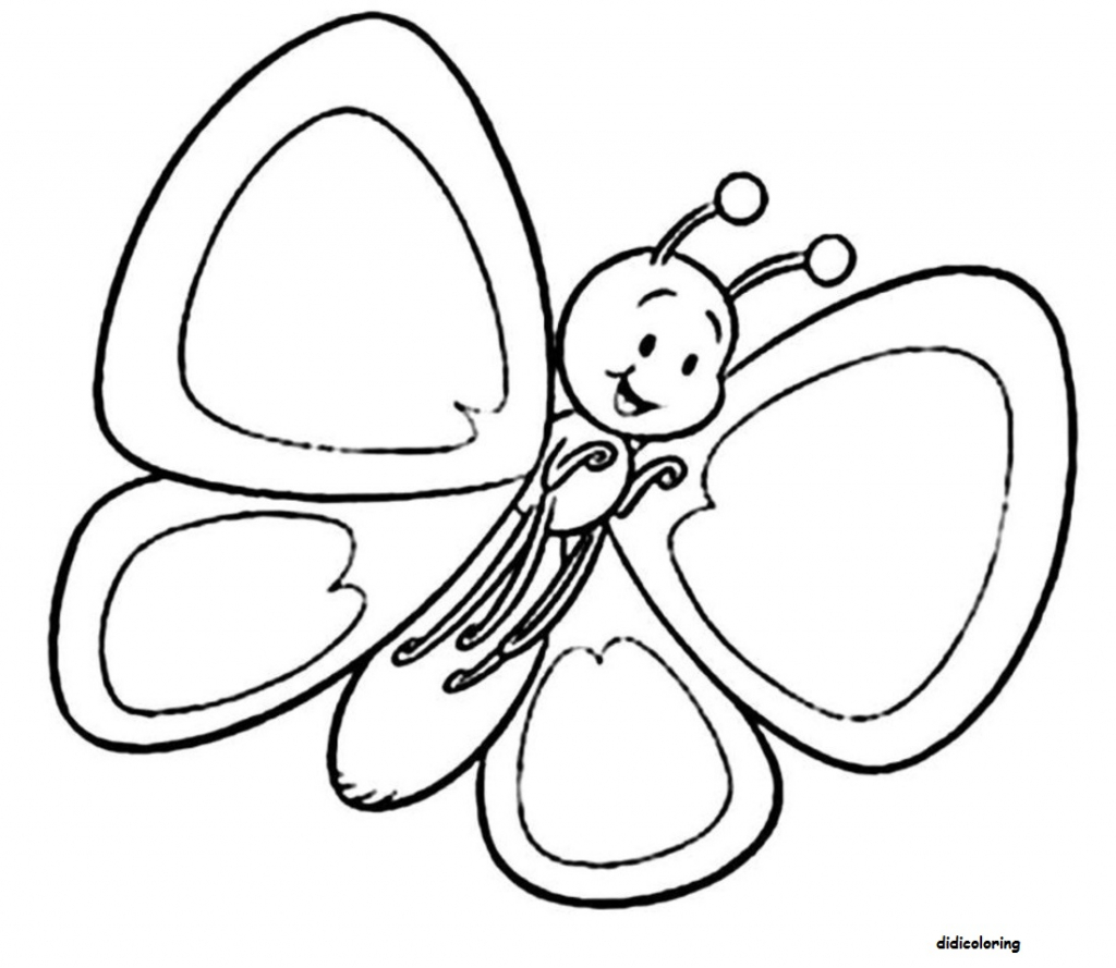 1024x889 Cute Butterfly Drawing How To Draw A Cartoon Butterfly Cute Step
