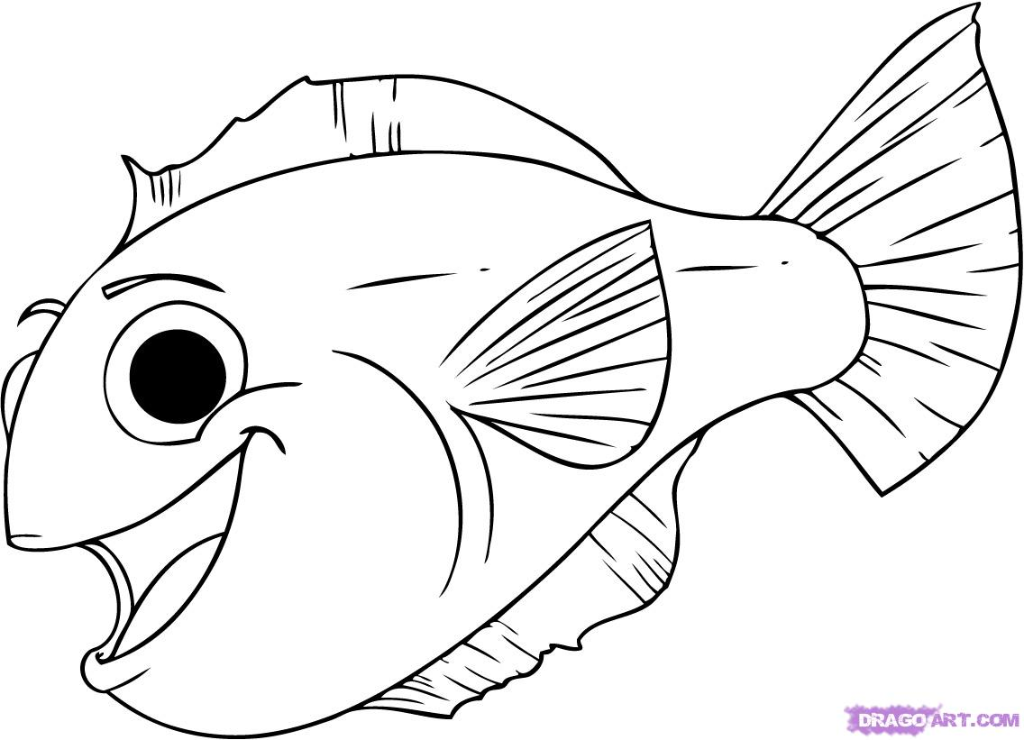 1136x821 Fish Line Drawing