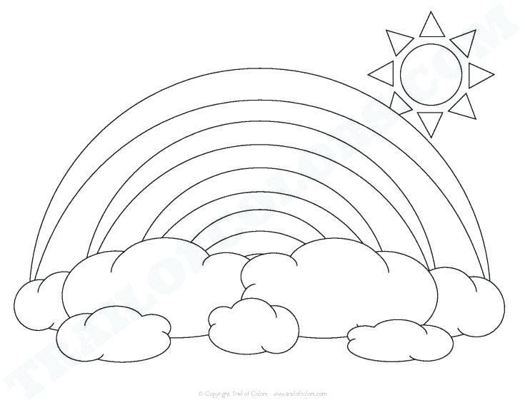 735x568 Rainbow Coloring Page Pdf Line Drawing Project For Awesome