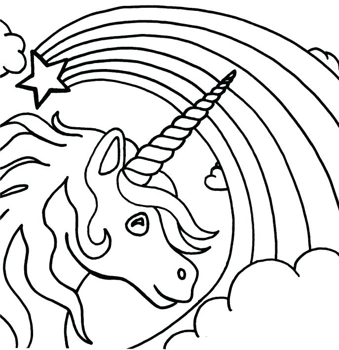 687x710 Rainbow Coloring Page Rainbow And Pot Of Gold Coloring Page
