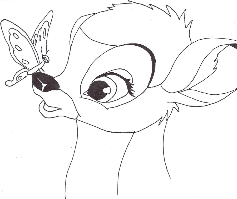 900x759 Bambi By Rainbow Moose