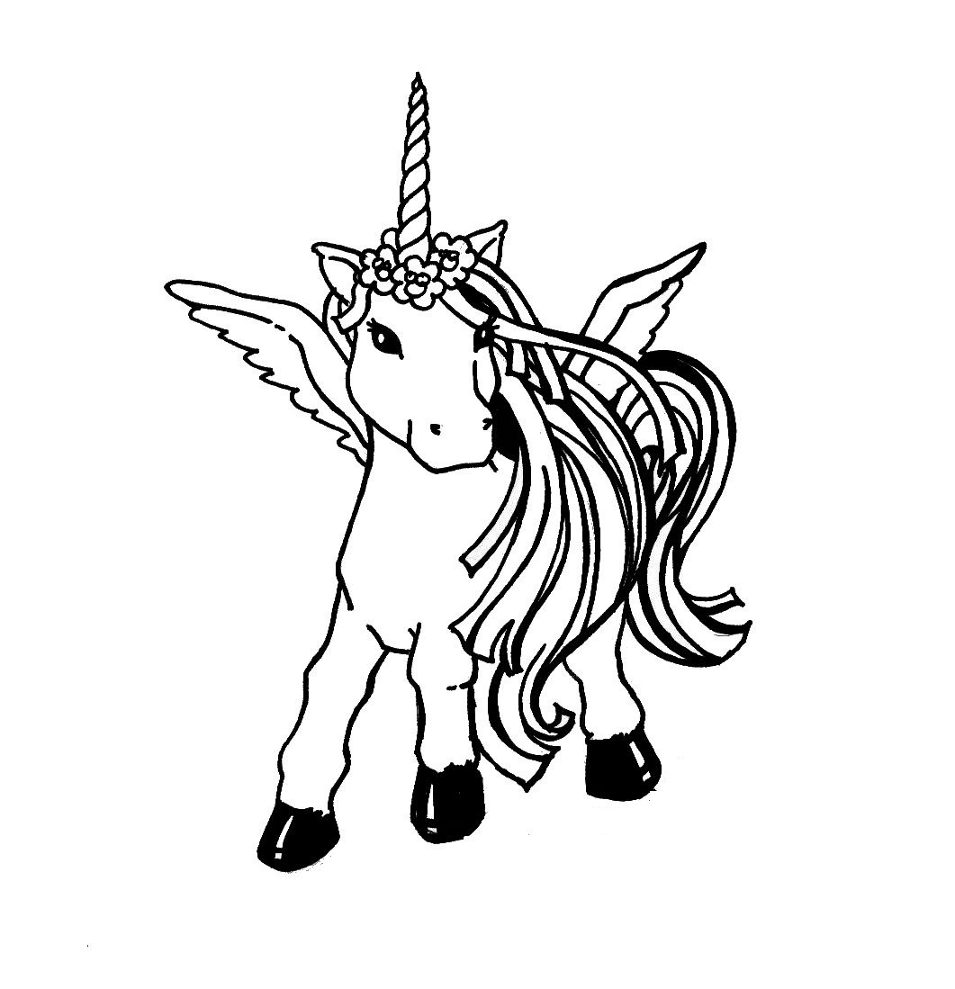 1061x1099 Trendy Unicorn Coloring Page Has On With HD