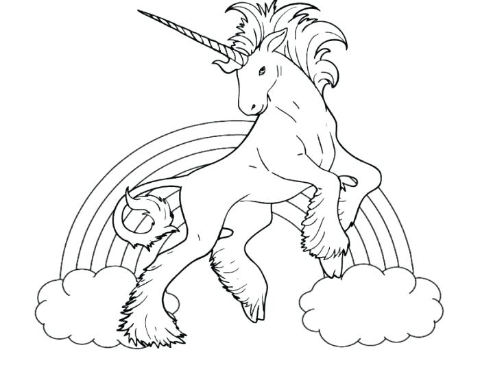 700x533 Unicorn And Rainbow Coloring Pages