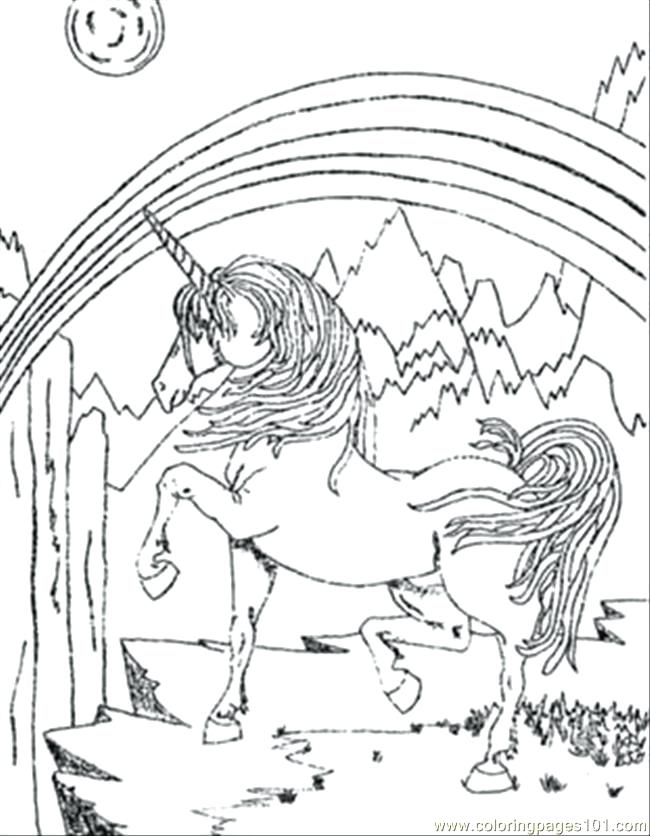 Rainbow Unicorn Drawing at GetDrawings   Free download