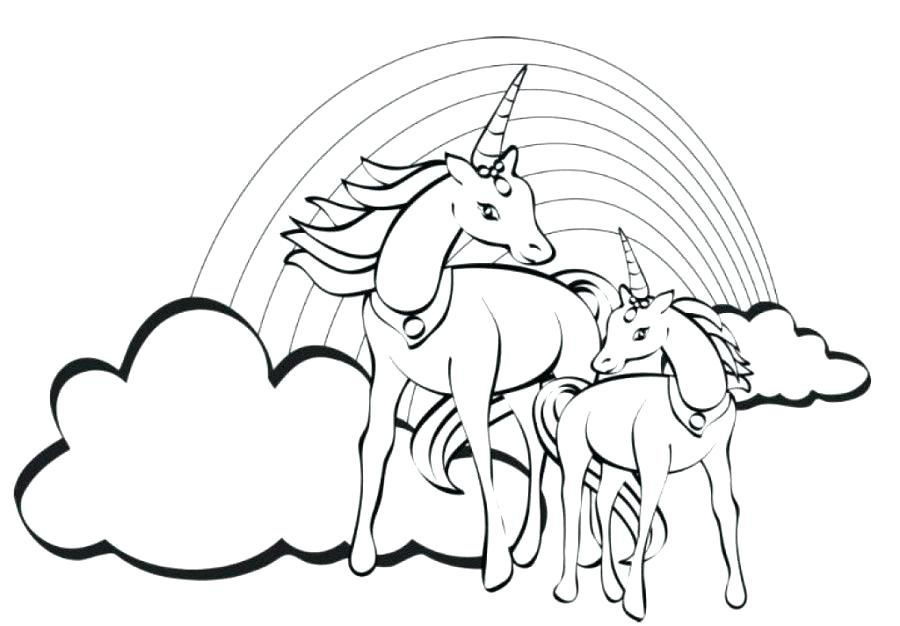 900x626 Coloring Page Rainbow Unicorn Printable Uni On Free Rainbow