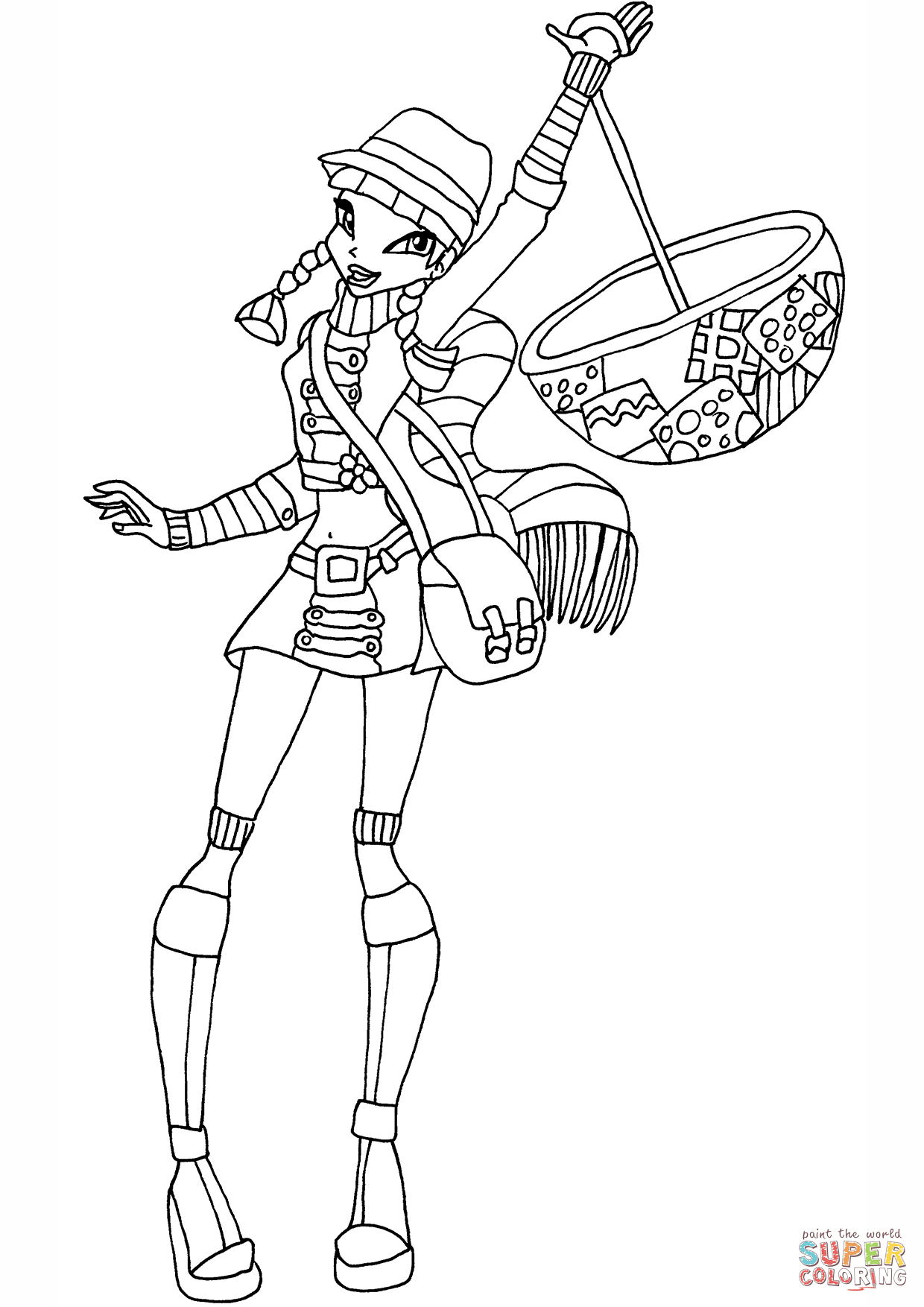 1240x1754 Musa Raincoat Coloring Page Free Printable Coloring Pages