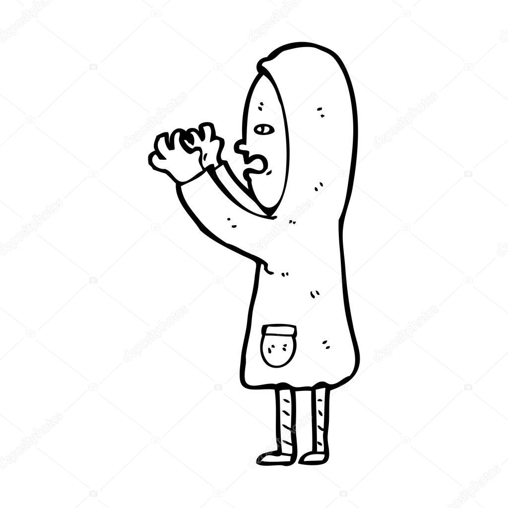 1024x1024 Boy In Raincoat Cartoon Stock Vector Lineartestpilot