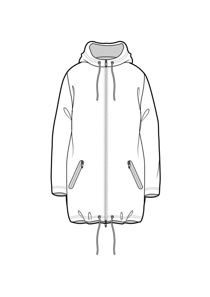 736x1043 Hoodie Sketch Tech Pack