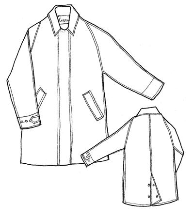 400x450 Cocoon Clothing (Menraincoats) Cr60 Mens Knee Length Raincoat