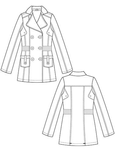 378x500 Flat Fashion Sketch