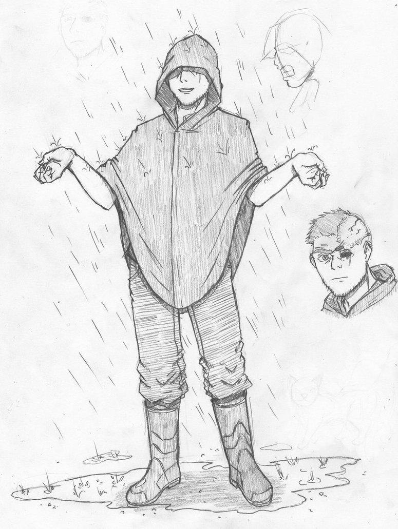 775x1031 Guy In A Raincoat By Pesuri
