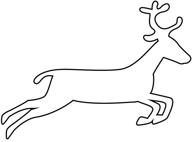 650x480 Coloring Pages Drawing Of A Reindeer Drawing Of A Reindeer