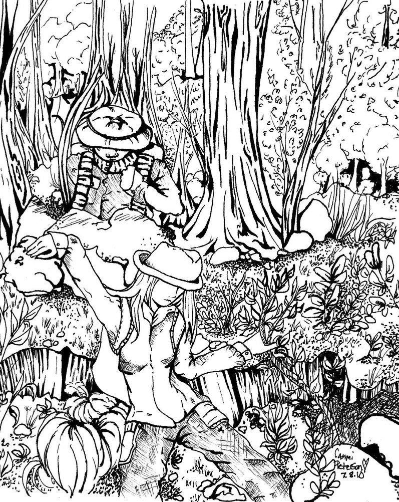 797x1002 Drawn Rainforest Jungle Scenery
