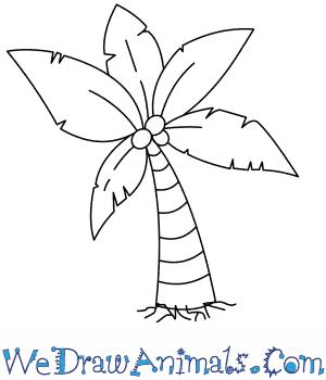300x350 How To Draw A Palm Tree