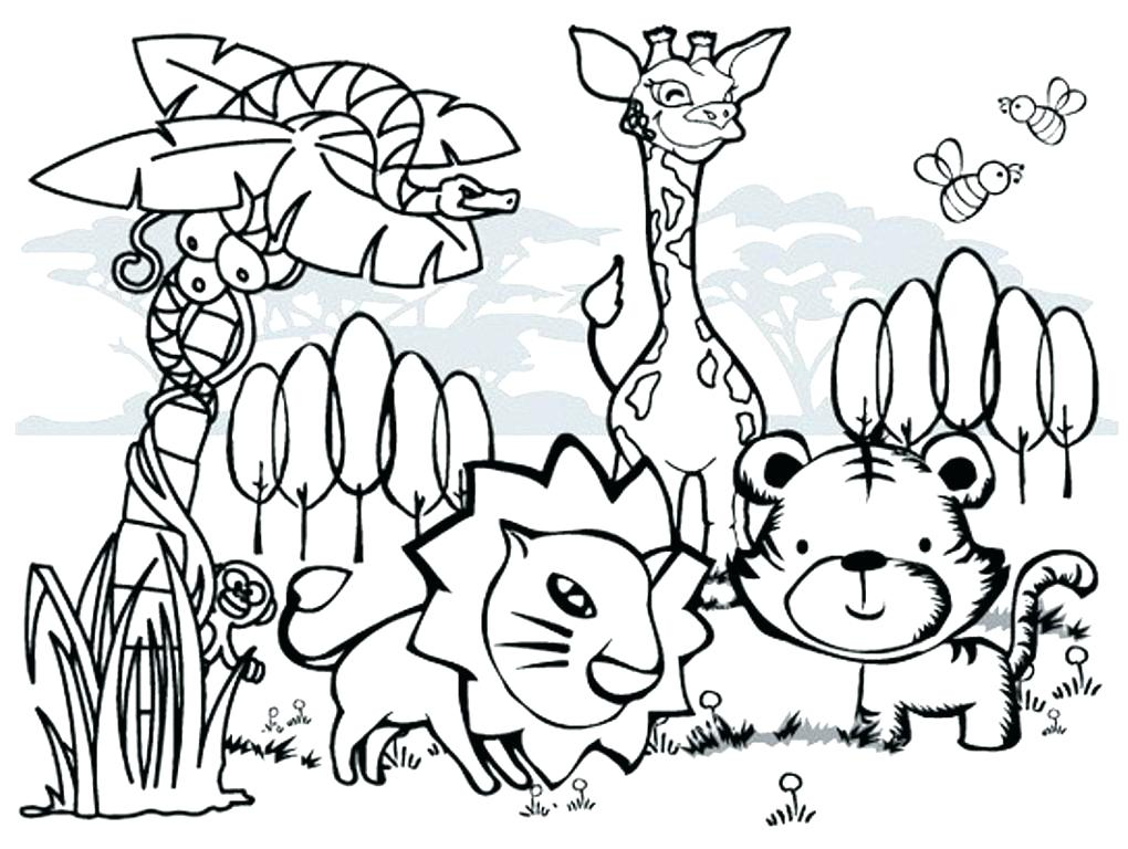 1020x768 Coloring Pages Printable Animals Zoo Animal Coloring Pages
