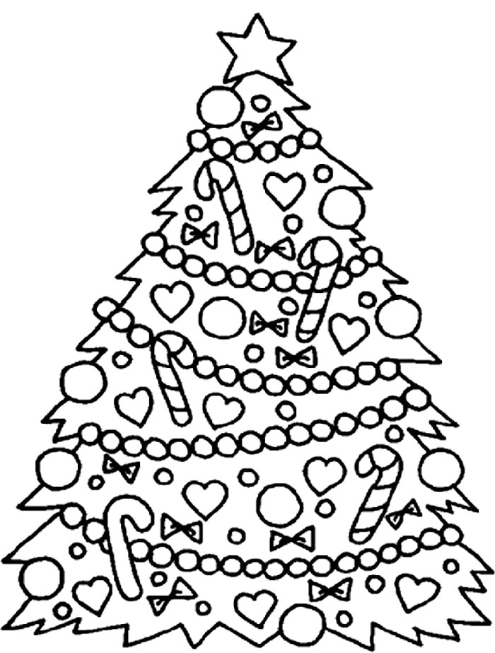700x923 Christmas Tree To Color Christmas Tree Coloring Pages Online