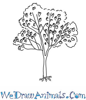300x350 How To Draw A Jacaranda Tree