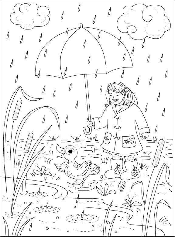576x780 Nicole's Free Coloring Pages Rainy Day