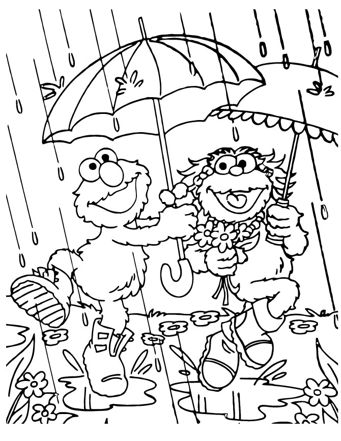 670x867 Rainy Day Coloring Page