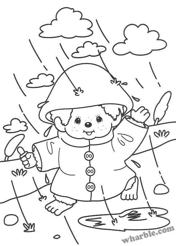 567x794 Rainy Day Coloring Pages