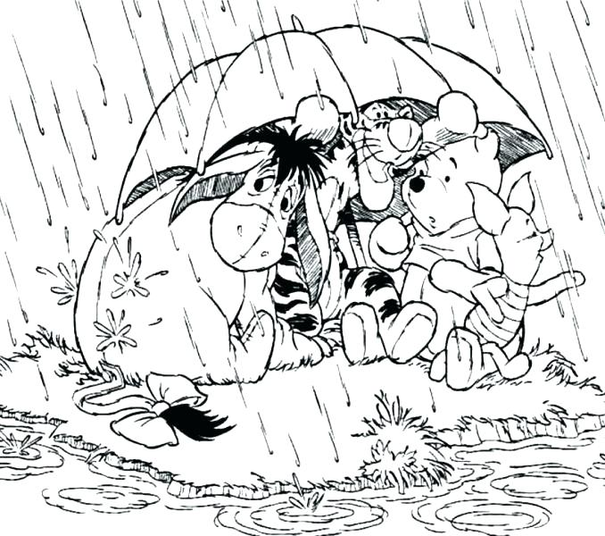 678x600 Rainy Day Coloring Pages Picture Printable Murs