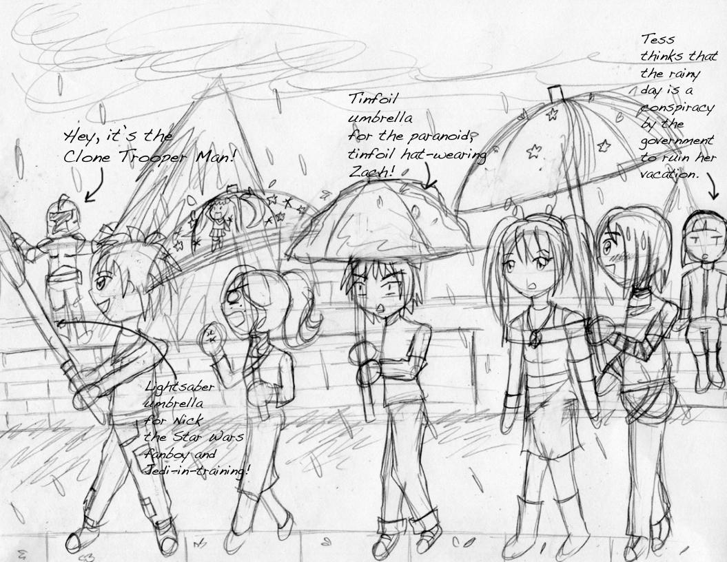 1055x816 A Rainy Day For Ile Sketch By Kattlanna