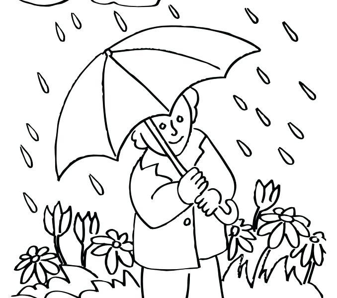 678x600 Rainy Day Coloring Sheets Draw Rainy Day Coloring Sheets Rainy Day