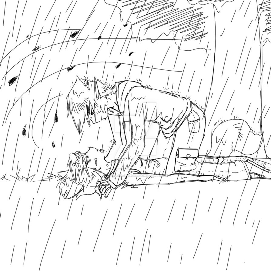 894x894 rainy day sketch by whitekitsune1