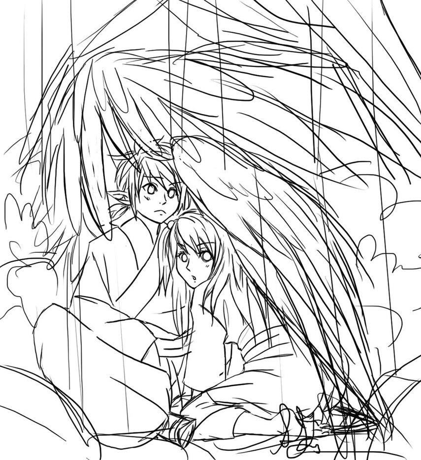 855x935 Rainy Day Roungh Sketch By Roots Love