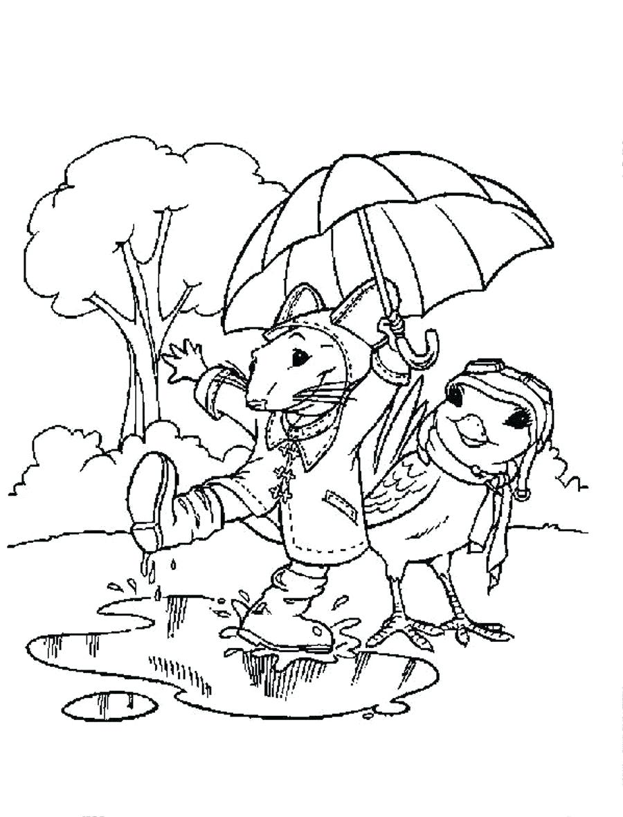 rainy day coloring page - raining day drawing at free for personal