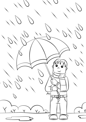 340x480 Rainy Day Coloring Page Free Printable Pages