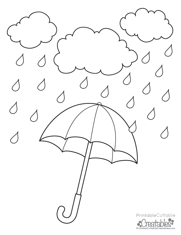 612x792 Weird Rainy Day Coloring Pages Umbrella Free Printable Page