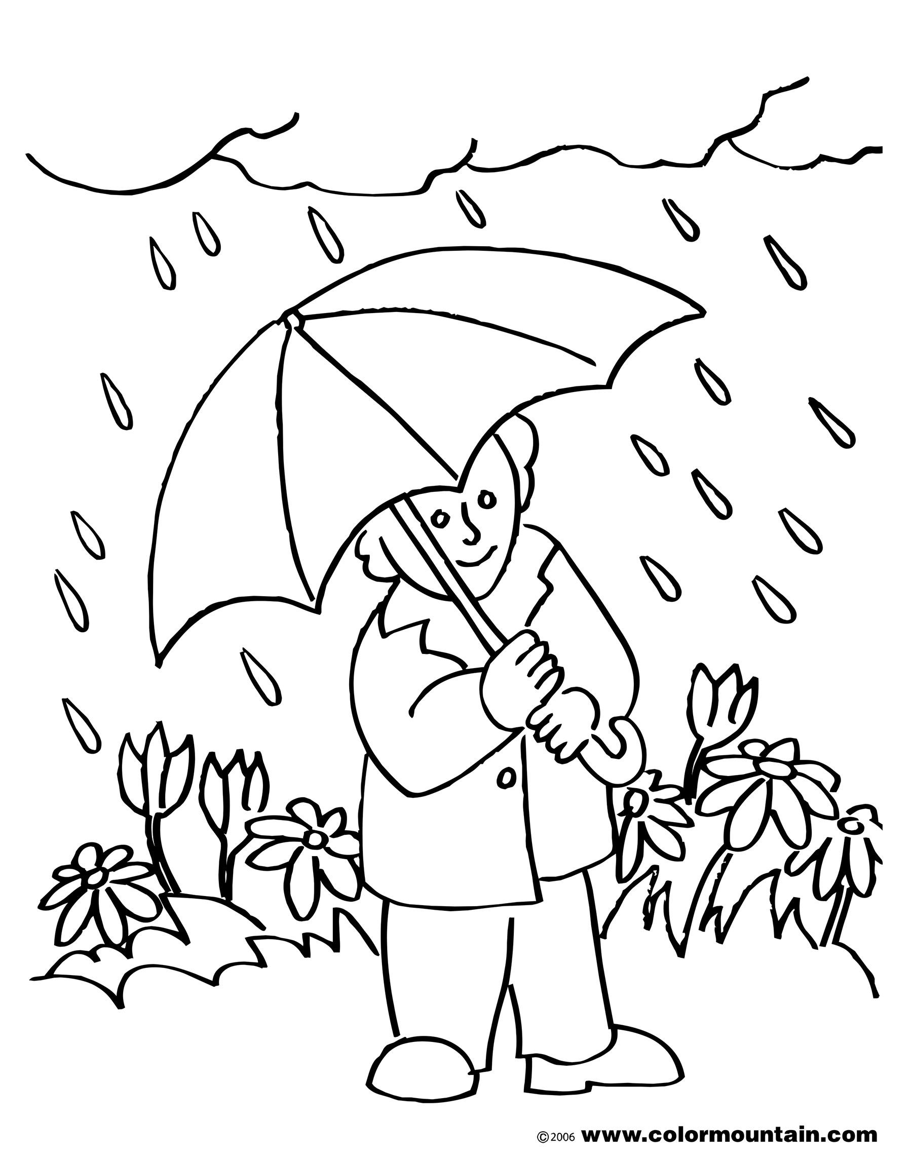 1800x2294 Rainy Clipart Black And White