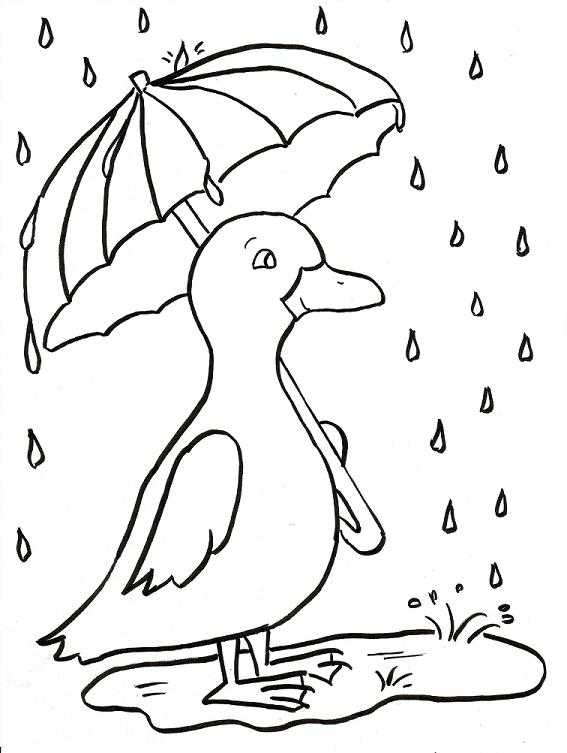 Rain Coloring Pages For Toddlers