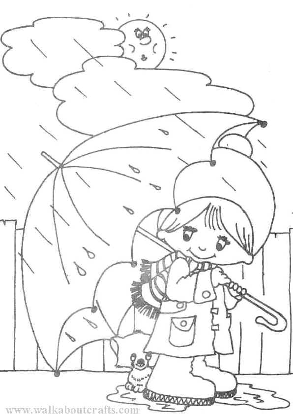 preschool rainy day coloring pages - photo#27