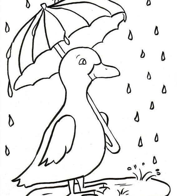 preschool rainy day coloring pages - photo#28
