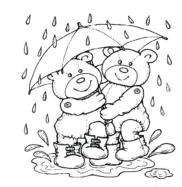 584x600 Weather Coloring Pages Image Of Rainy Day Colouring Page Weather