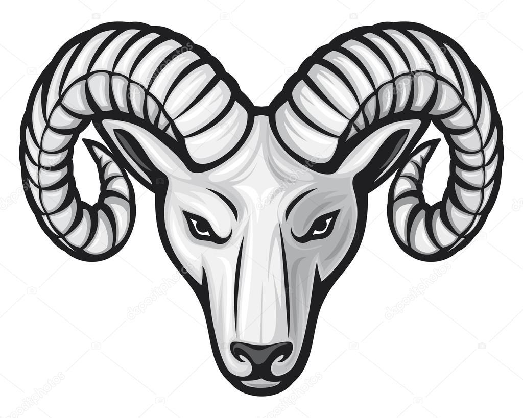 1024x819 Head Of The Ram Stock Vector Tribaliumivanka