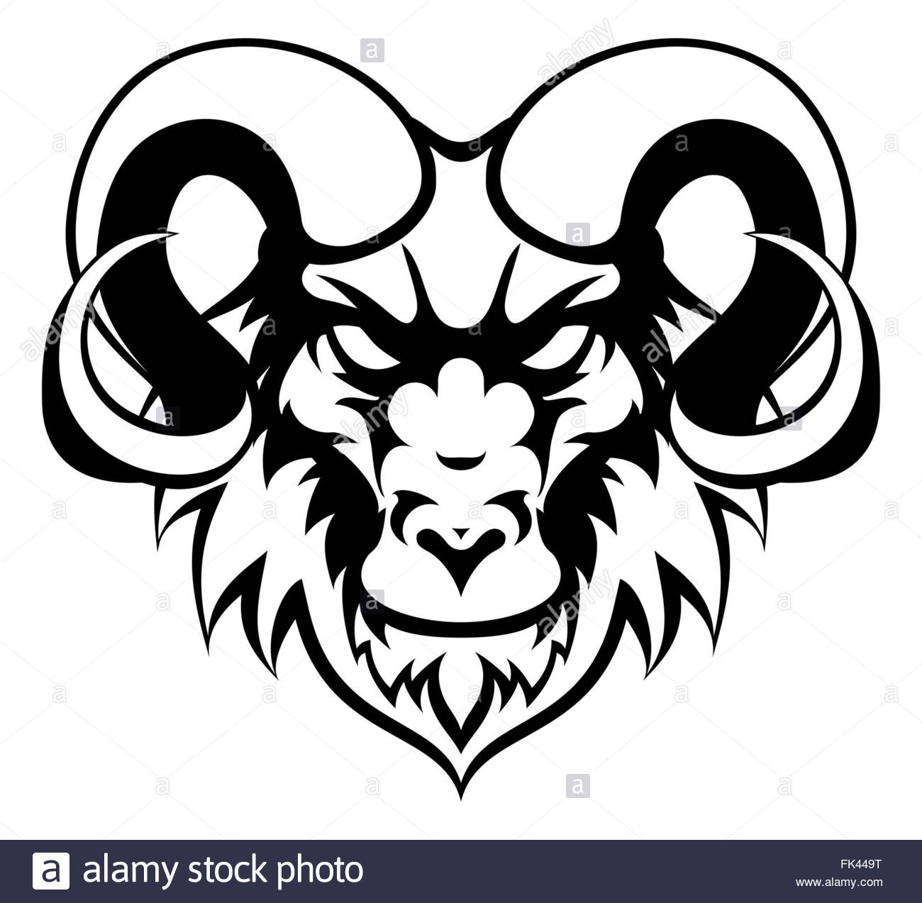 1300x1273 An Illustration Of A Ram Animal Mean Sports Mascot Head Stock
