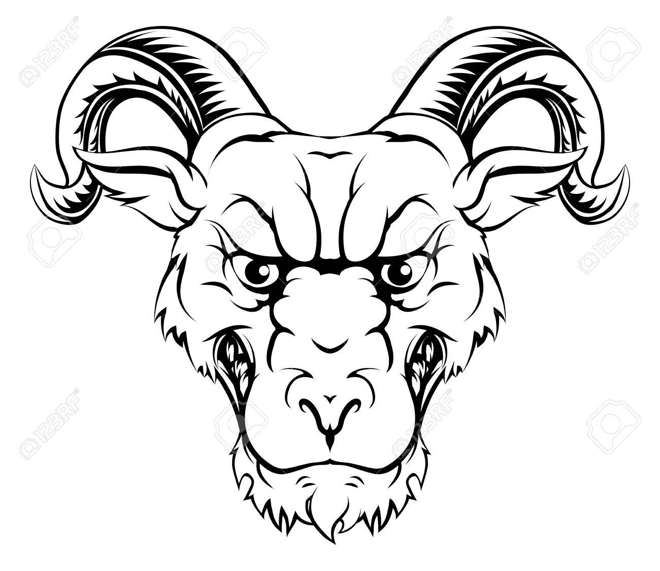 1300x1125 Ram Character Illustration Of A Ram Sports Mascot Or Animal