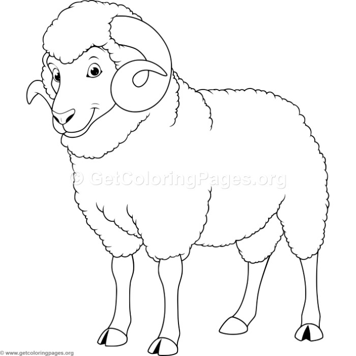 700x700 Ram Coloring Pages