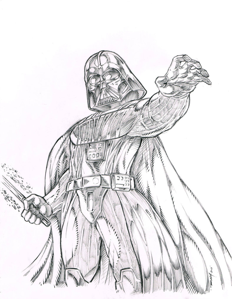 787x1015 Darth Vader Sketch By Ram By Robertmarzullo